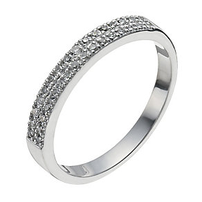 9ct White Gold 10 point diamond ring - Product number 9958894