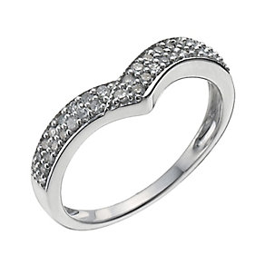 Sterling Silver Quarter Carat Diamond Shaped Ring - Product number 9959149