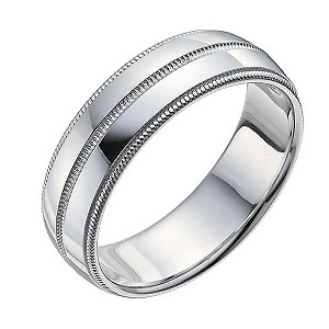Men's Sterling Silver Groove Ring