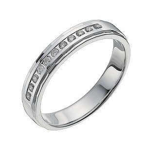 Sterling Silver 10 Point Diamond Shaped Ring