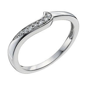 9ct White Gold Shaped Diamond Ring - Product number 9962530