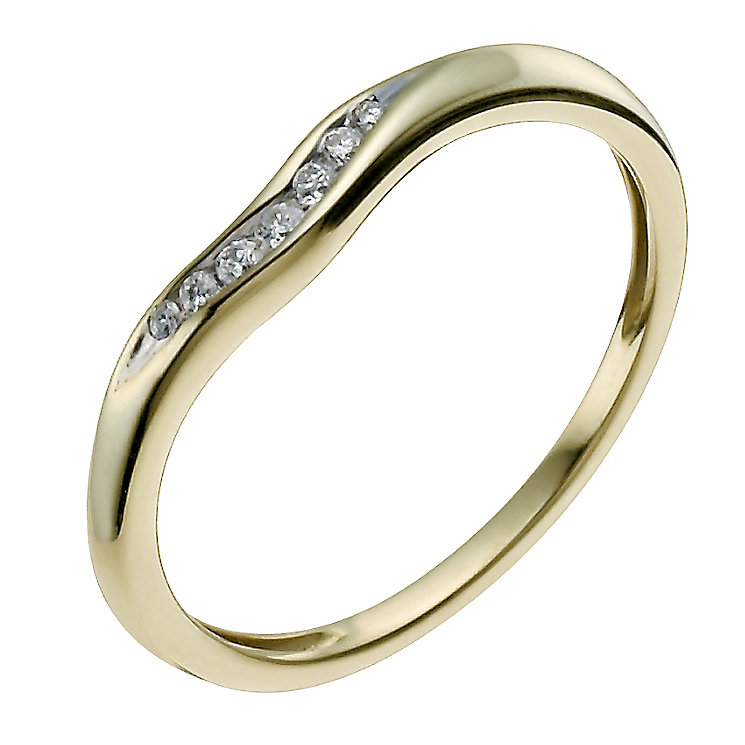 9ct Yellow Gold Shaped Diamond Ring - Product number 9962808