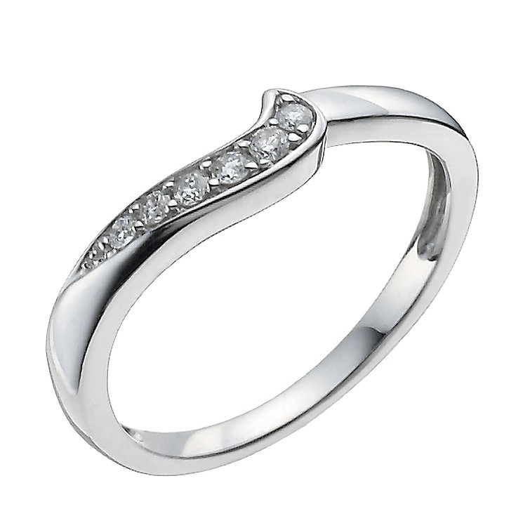 9ct White Gold 10 Point Diamond Shaped Ring - Product number 9962921