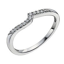 9ct White Gold 10 Point Diamond Shaped Ring - Product number 9963057