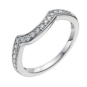 18ct White Gold One Fifth Carat Diamond Shaped Ring - Product number 9963588