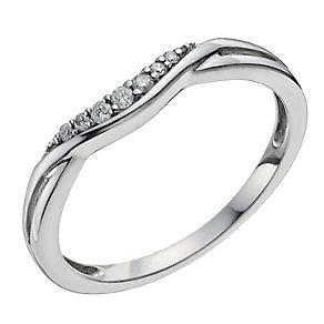 Palladium 950 Shaped Diamond Ring - Product number 9963715