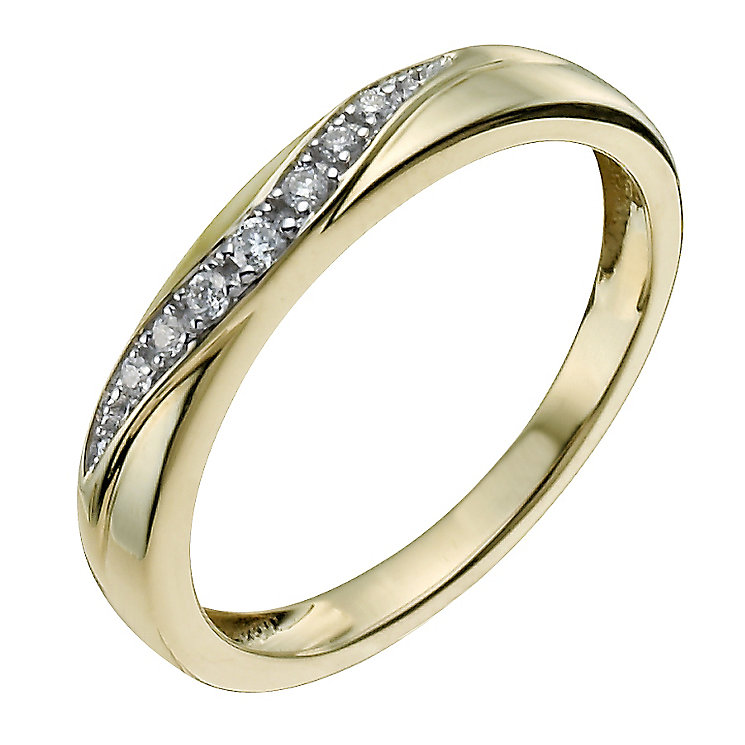 9ct Yellow Gold Shaped Diamond Ring - Product number 9963847