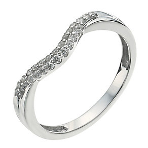 9ct White Gold 1/10 Carat Diamond Shaped Ring - Product number 9964126