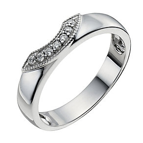 9ct White Gold Shaped Diamond Ring - Product number 9964258