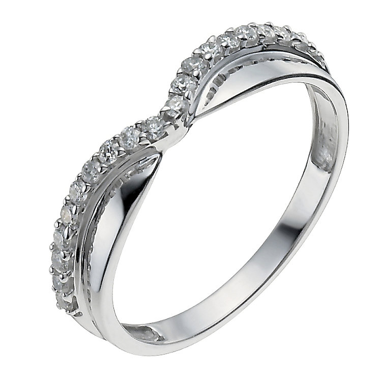 9ct White Gold Shaped One Fifth Carat Diamond Ring - Product number 9964371