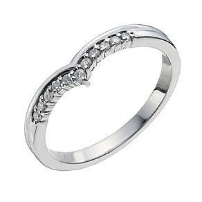 Palladium 10 Point Diamond Shaped Ring - Product number 9964517