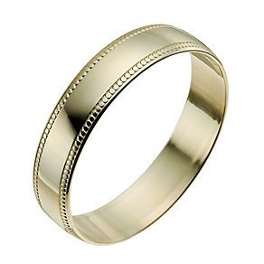 9ct Yellow Gold 4mm Milgrain Edge Ring - Product number 9965211