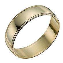 9ct Yellow Gold 6mm Milgrain Edge Ring - Product number 9966013