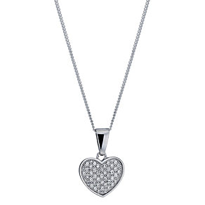 Sterling silver cubic zirconia heart pendant - Product number 9967087