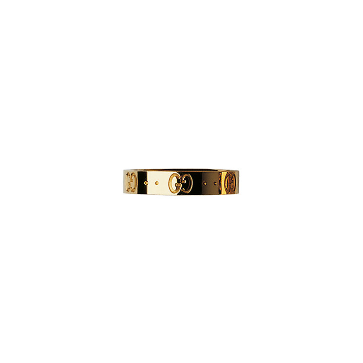 Gucci Icon 18ct yellow gold slim GG ring - size O - Product number 9967184