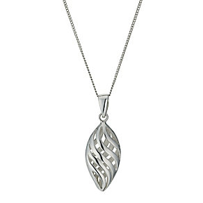 Sterling silver marquise cut out pendant - Product number 9967249