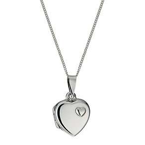 Sterling silver heart locket - Product number 9967257