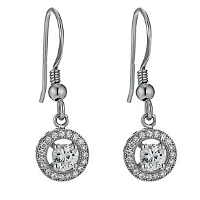 Sterling silver cubic zirconia drop earrings - Product number 9967575