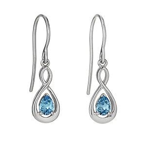 Silver blue Swarovski crystal earrings - Product number 9967605