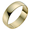 18ct Yellow Gold 6mm Heavy D Shape Ring - Product number 9969551