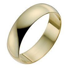 18ct Yellow Gold 6mm Extra Heavy D Shape Ring - Product number 9969810