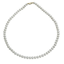 9ct yellow gold cultured freshwater pearl strand necklace - Product number 9974318