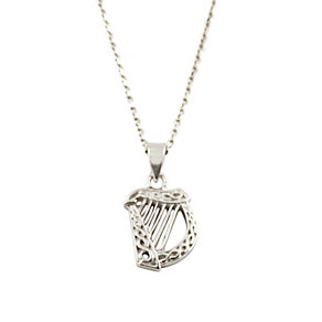 Cailin Sterling Silver Harp Pendant Necklace - Product number 9974369