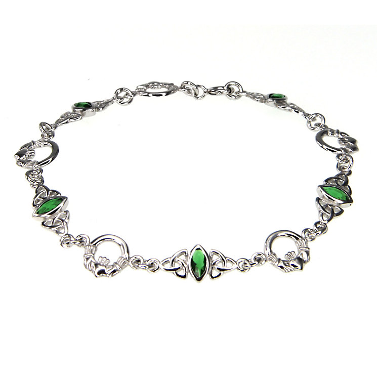 Cailin Sterling Silver & Cubic Zirconia Claddagh Bracelet - Product number 9974377
