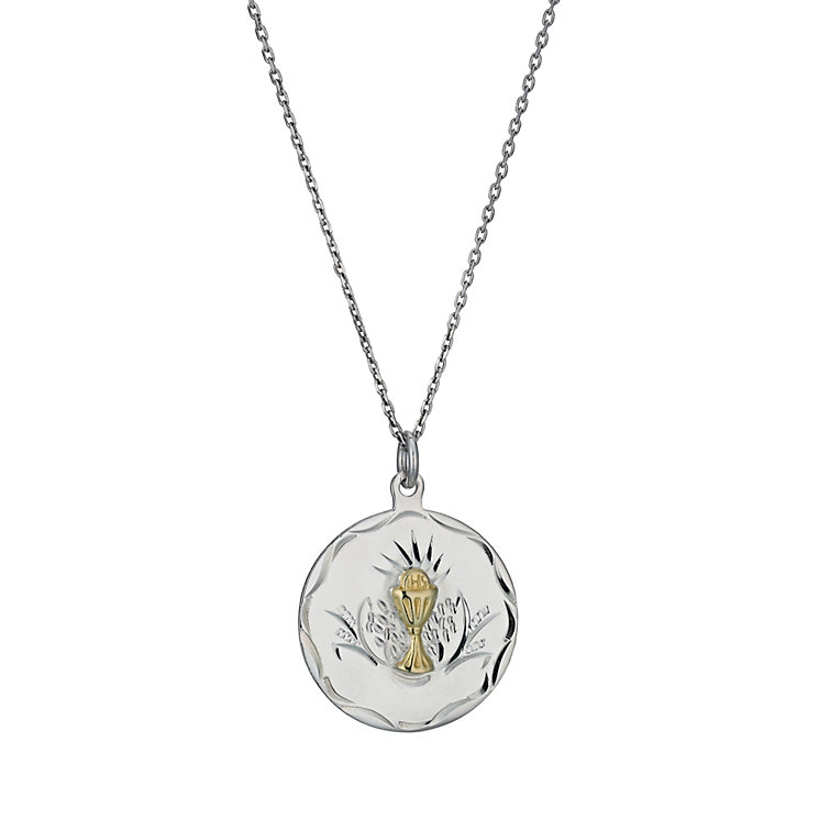 Cailin Sterling Silver Round Chalice Pendant - Product number 9974385