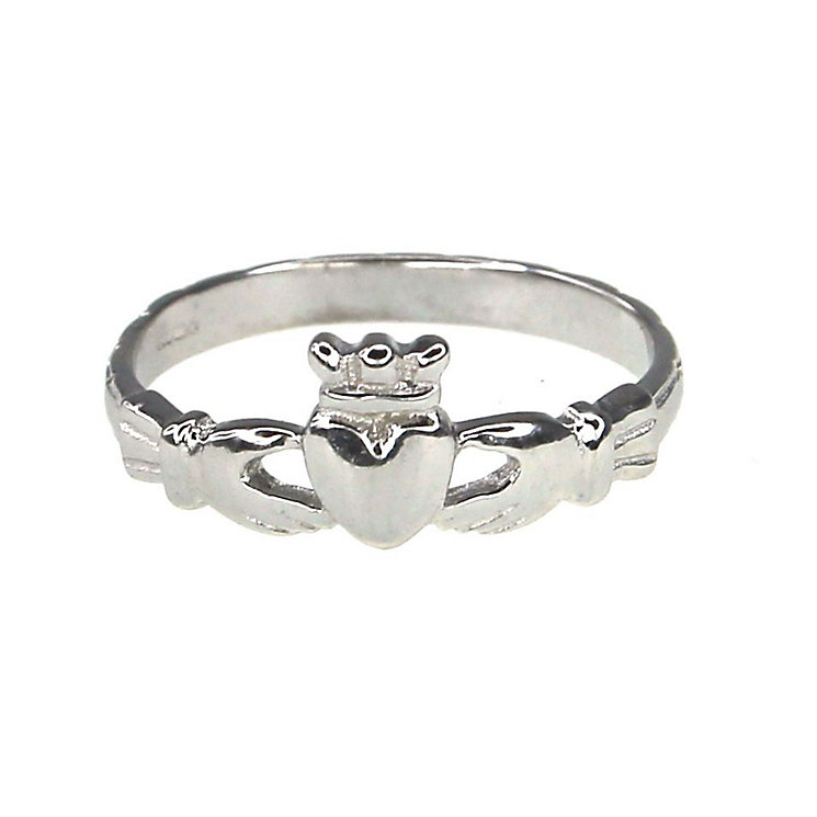 Cailin Sterling Silver Claddagh Ring - Size L - Product number 9974539