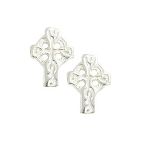 Cailin Sterling Silver Celtic Cross Earrings - Product number 9974784