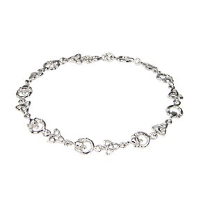 Cailin Sterling Silver Trinity Claddagh Bracelet - Product number 9974806
