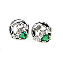 Cailin Sterling Silver & Cubic Zirconia Claddagh Earrings - Product number 9974830