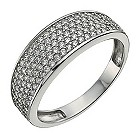 9ct white gold pave cubic zirconia ring - Product number 9975152