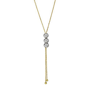 9ct two tone diamond cut Y chain necklace - Product number 9976132