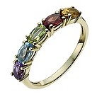 9ct yellow gold semi-precious jewel ring - Product number 9977074