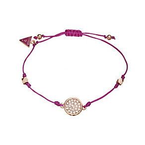 Guess Rose Gold-Plated Crystal Mini Disc Bracelet - Product number 9978968
