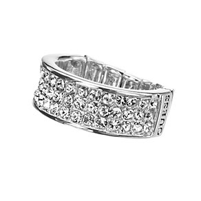 Guess Silver-Plated Pave Crystal Stretch Ring - Product number 9979026