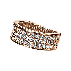 Guess Rose Gold-Plated Pave Crystal Stretch Ring - Product number 9979034