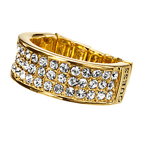 Guess Gold-Plated Pave Crystal Stretch Ring - Product number 9979220