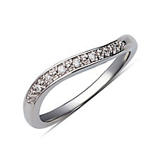 Perfect Fit Silver & Diamond Eternity Ring - Product number 9982094