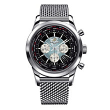 Breitling men's stainless steel black bracelet watch - Product number 9985840