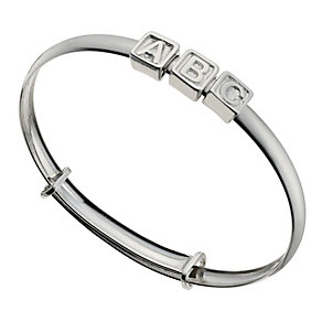Children's Sterling Silver ABC Expander Bangle - Product number 9986278