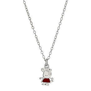 "Children's Sterling Silver 14"" Peppa Pig Pendant - Product number 9986340"