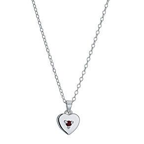 Children's Silver January Garnet Birthstone Pendant - Product number 9986871