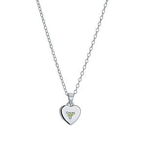 Children's Silver August Peridot Birthstone Pendant - Product number 9986987