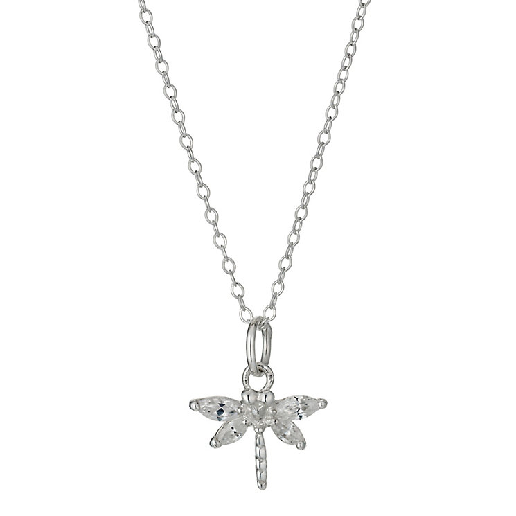 Children's Sterling Silver Cubic Zirconia Dragonfly Pendant - Product number 9987126