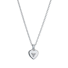 Children's Silver April Birthstone Cubic Zirconia Pendant - Product number 9987169