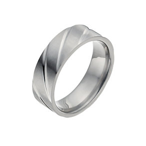 Men's Titanium Groove Ring - Product number 9990321