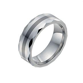 Men's Tungsten & Ceramic Ring - Product number 9991069